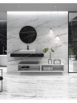Insignia Colorker White marble look porcelain tile 29,5X59,5